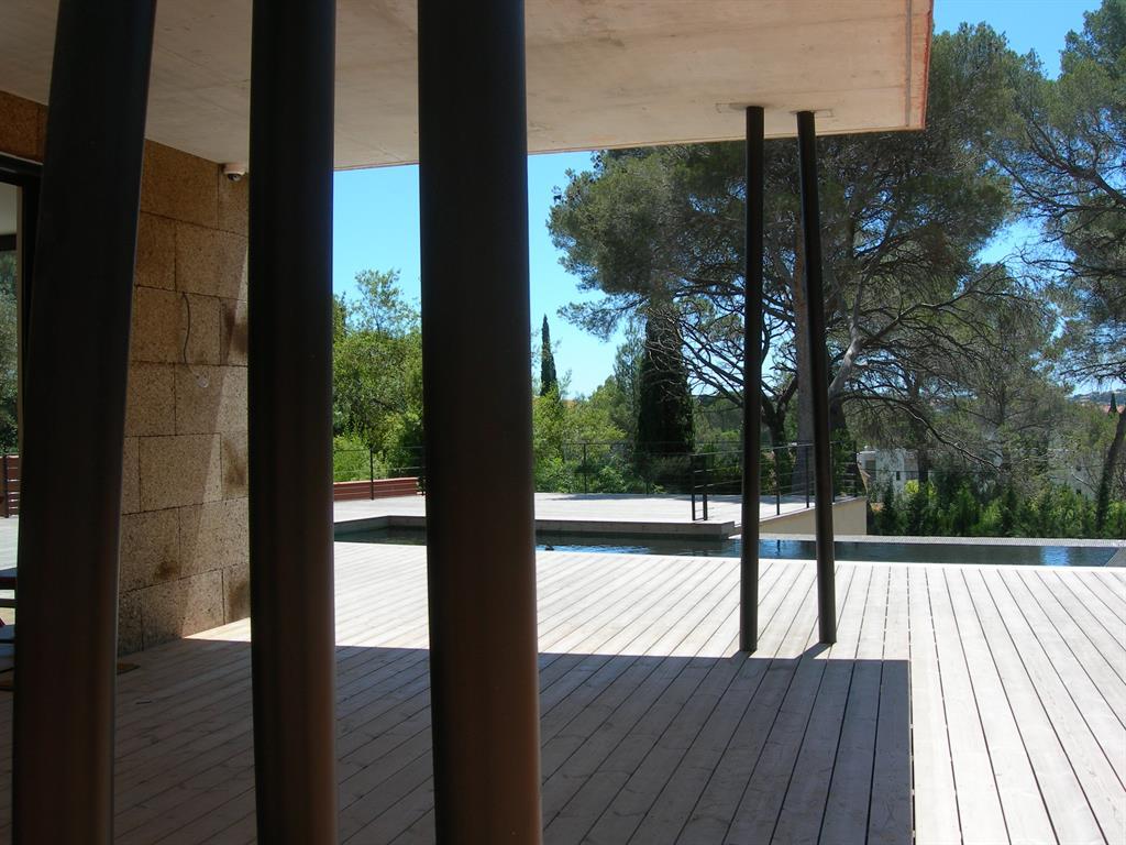 Auvent sur terrasse avec piscine