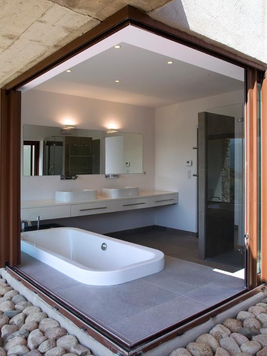 Salle de bain semi ouverte vezzoni associ s photo n 44 for Salle de bain chambre ouverte