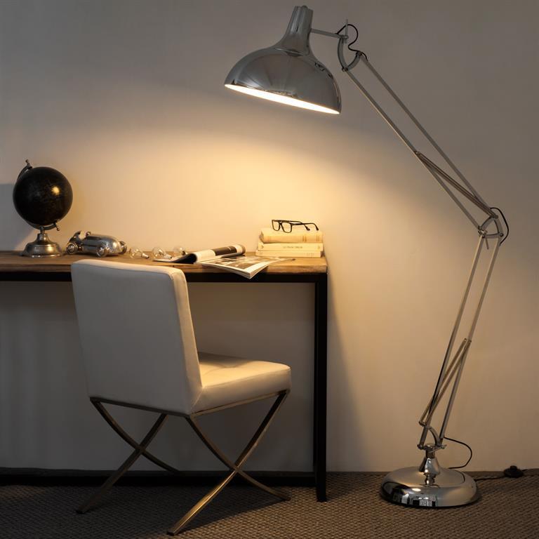 Lampadaire orientable en métal H 180 cm DISCO