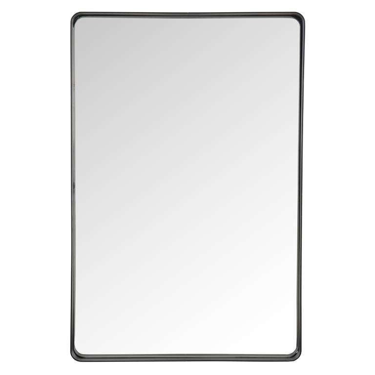 Miroir en métal noir H 60 cm COPERNIC