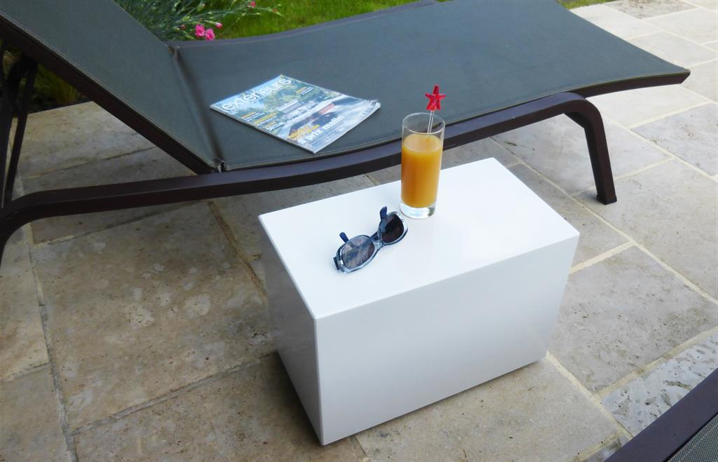 Bout de canapé sur roulettes - Usage Indoor / Outdoor