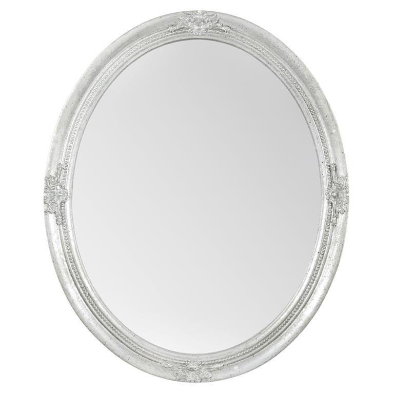 Miroir en bois argenté H 57 cm VERNEUIL
