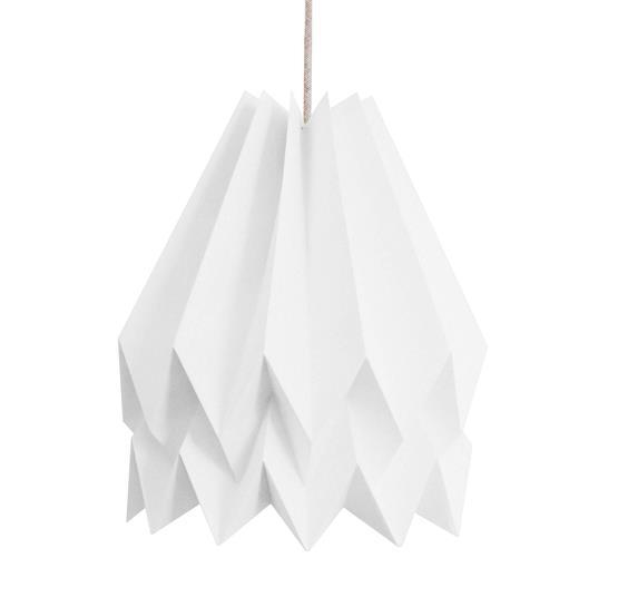 Abat-jour blanc 45 cm en papier - Orikomi