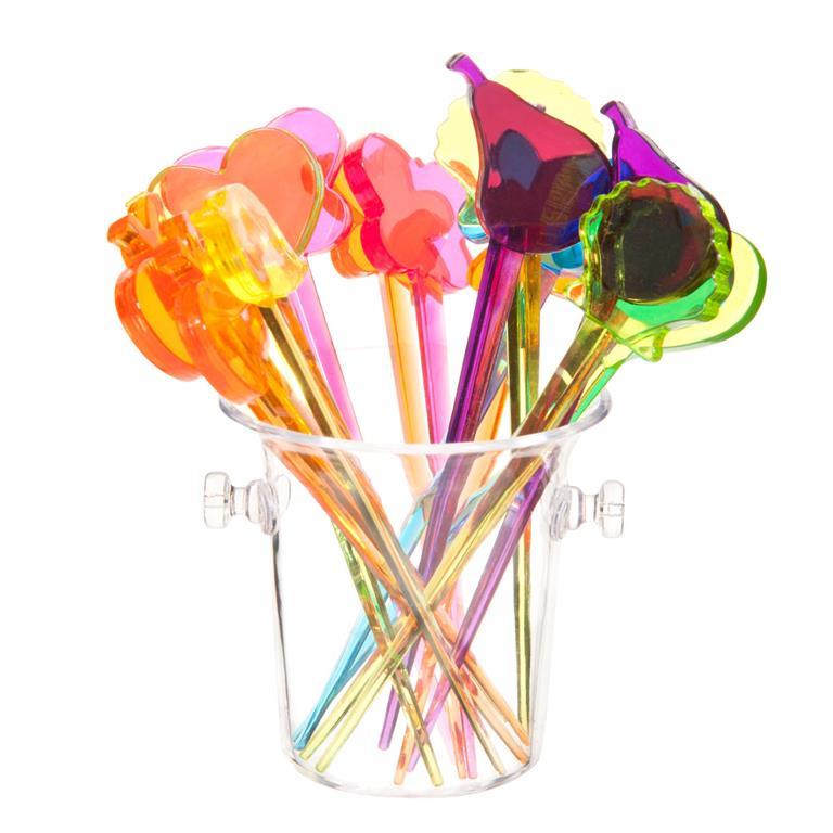 16 pics apéritif multicolores COLORES