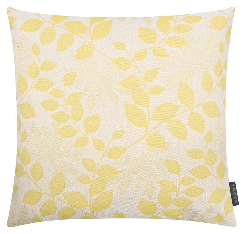 Housses de coussin outdoor motif floral jaune Dralon - lot de 2 -40x40