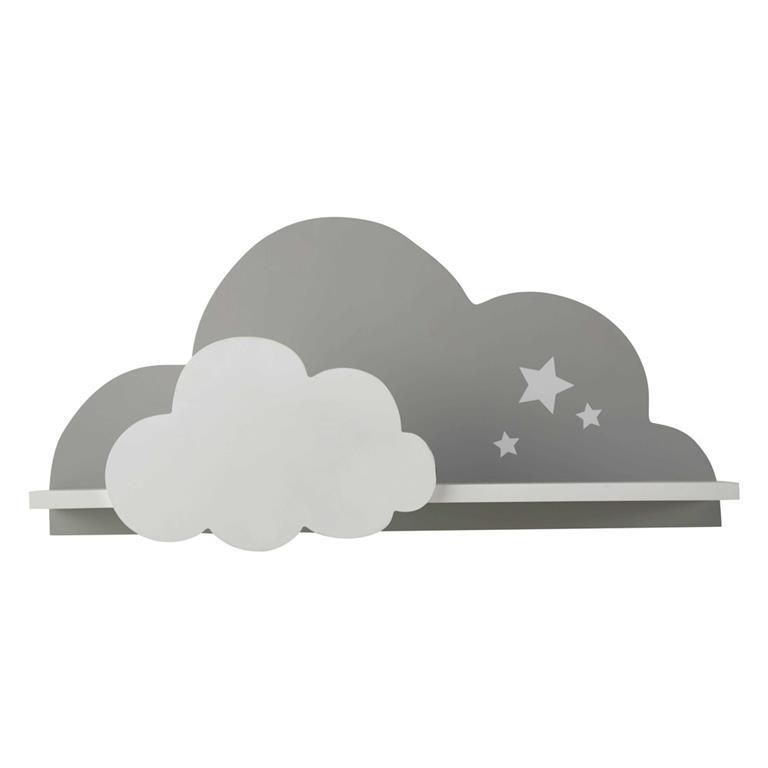 Étagère murale nuage blanche et grise