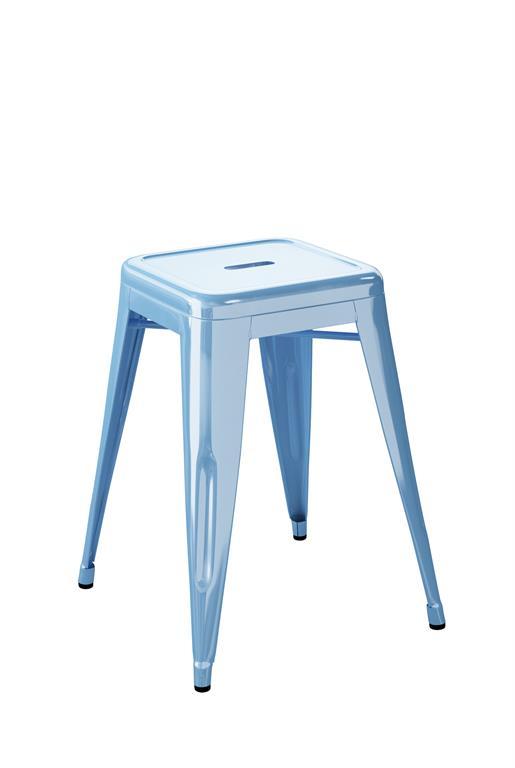 Tabouret H55 bleu azure