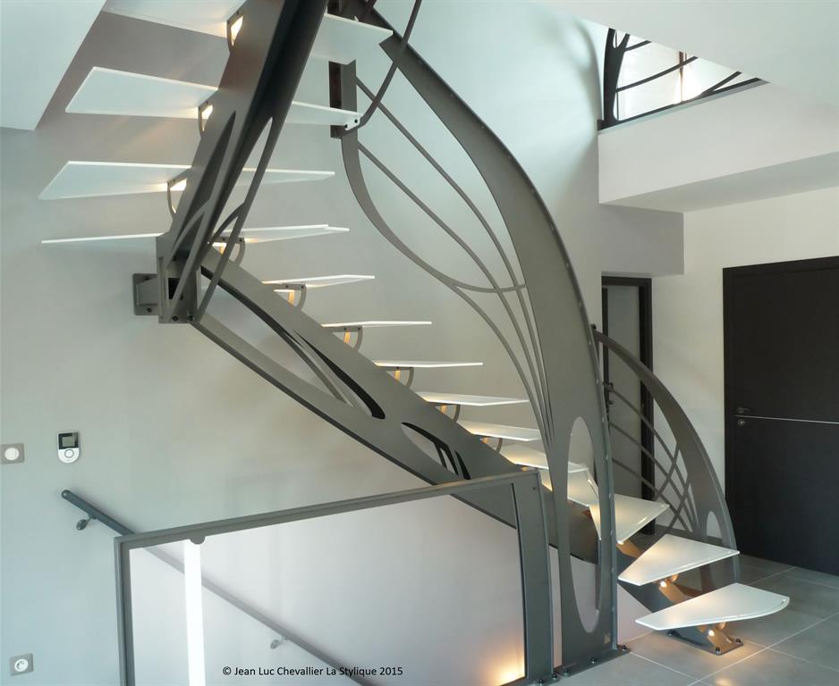escalier design métal idée décoration escalier design métal et ...