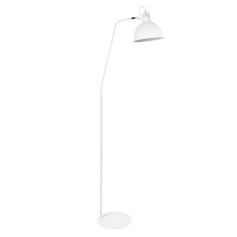 Lampadaire en métal blanc H 164 cm MALMO