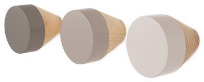 Patère Clou / Set de 3 - ENOstudio gris en bois