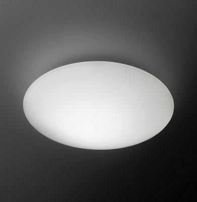 Applique Puck Ø 16 cm / Plafonnier - Vibia blanc en verre