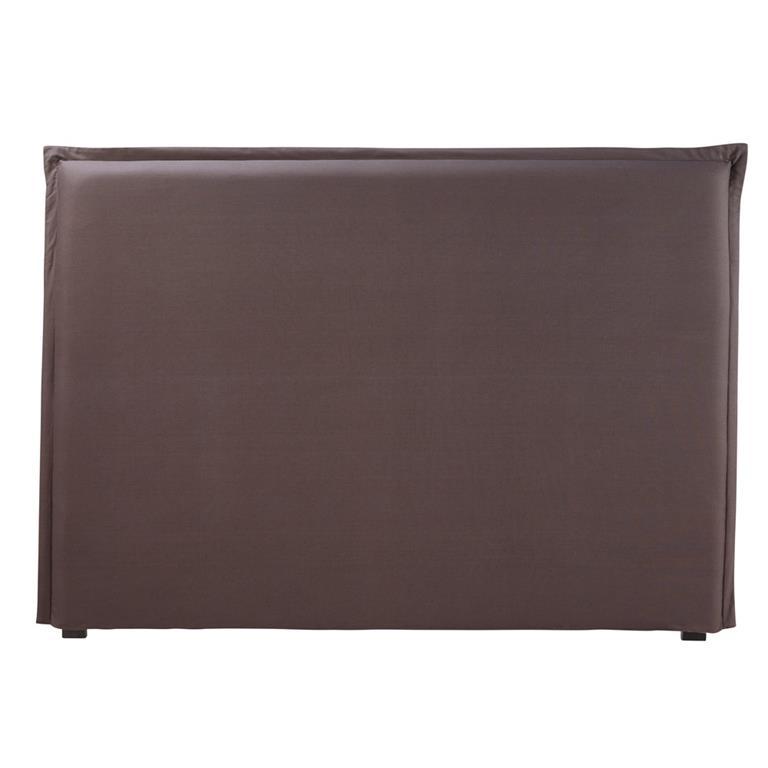 housse de t te de lit 160 en coton gris anthracite. Black Bedroom Furniture Sets. Home Design Ideas