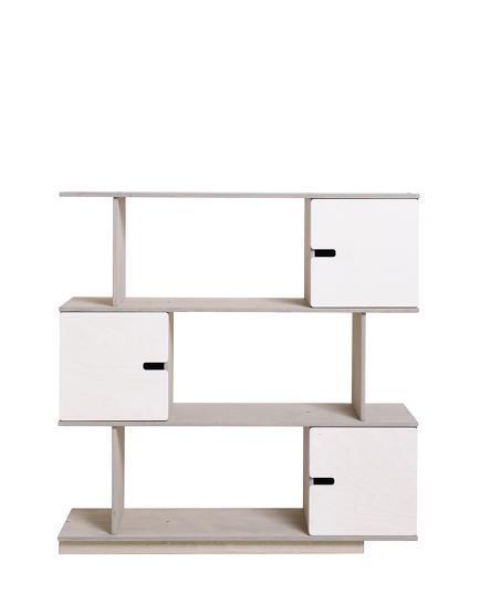 Etagère 3 niveaux blanche et grise Pix - Radis