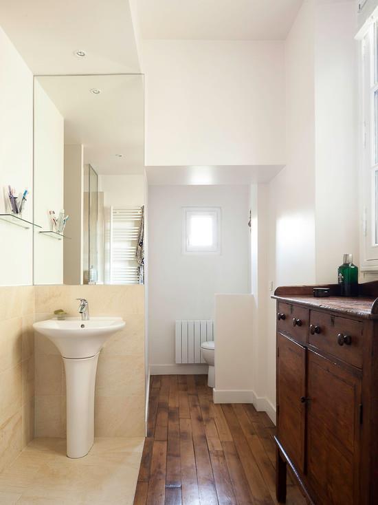 Petite salle de bain en longueur petite salle de bain en for Amenager une salle de bain en longueur