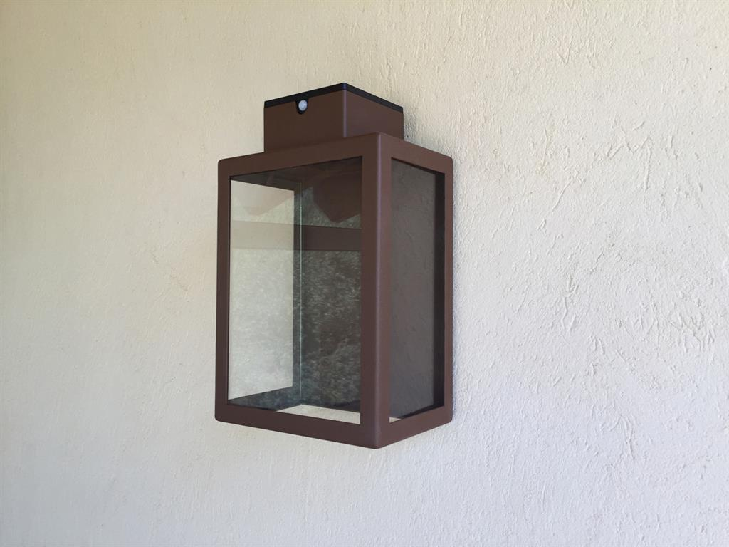 Lampe acier et verre