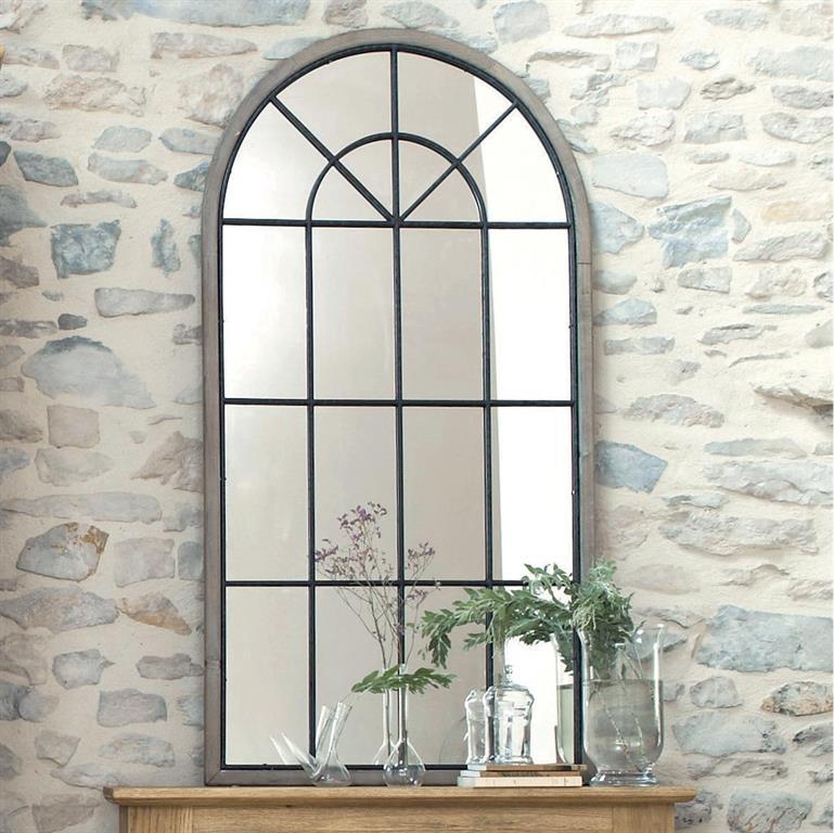 Miroir Fenêtre Demi Lune En Sapin 76x146 Maisons Du Monde