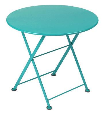 table basse tom pouce fermob turquoise en m tal fermob. Black Bedroom Furniture Sets. Home Design Ideas