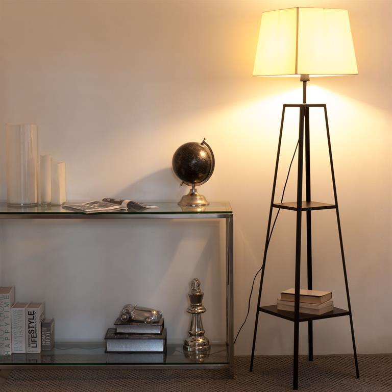 Lampadaire en métal noir et blanc H 169 cm ALTO