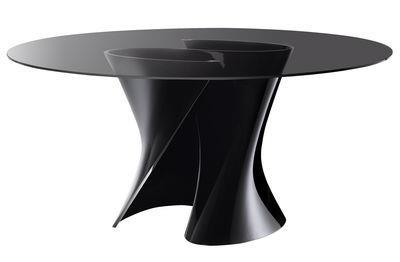 Table S / Ø 140 cm - MDF Italia Noir en Verre