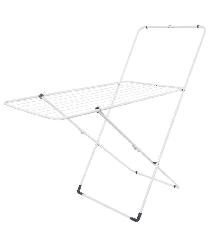 Sèche linge pliable avec portant - L123 cm - Blanc