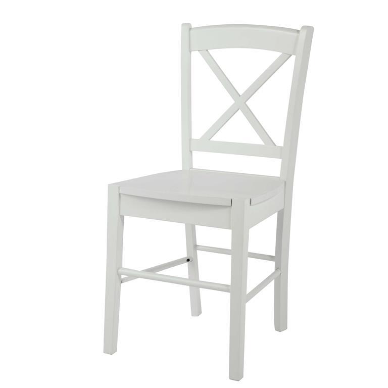 Chaise en hévéa blanc Newport Maisons du monde Ref 146310