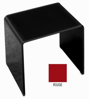 Table Basse Curvi 3 L 62 Cm Glas Italia Rouge Laque
