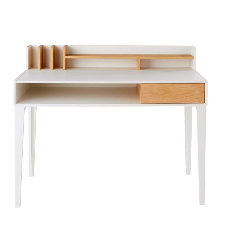 Bureau 1 tiroir blanc Kara