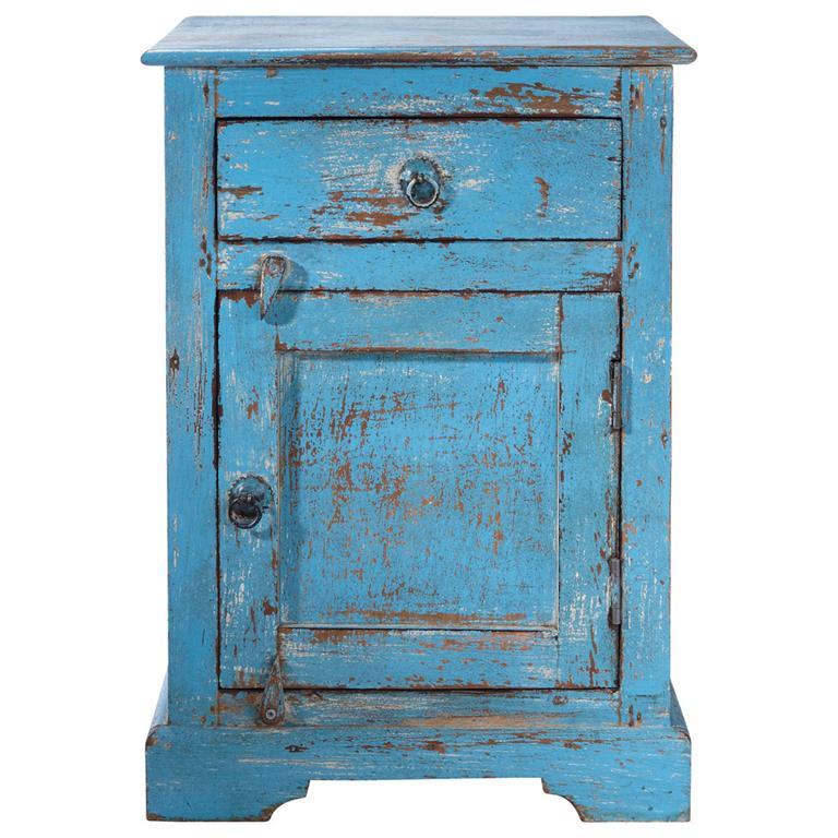 Chambre coucher table de chevet - Table de chevet bleu ...