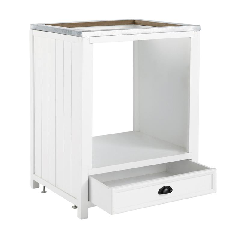 meuble bas de cuisine pour four en pin blanc l 70 cm newport. Black Bedroom Furniture Sets. Home Design Ideas
