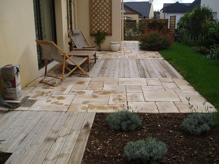Terrasse bois et carrelage pierre couleur paysage photo n 09 - Terrasse bois et pierre ...