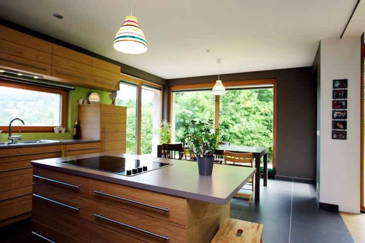 Cuisine avec lot central pour la cuisson architects team - Cuisine design avec ilot ...