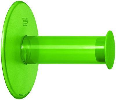 Dérouleur de papier toilette Plug´N Roll - Koziol vert transparent en matière plastique