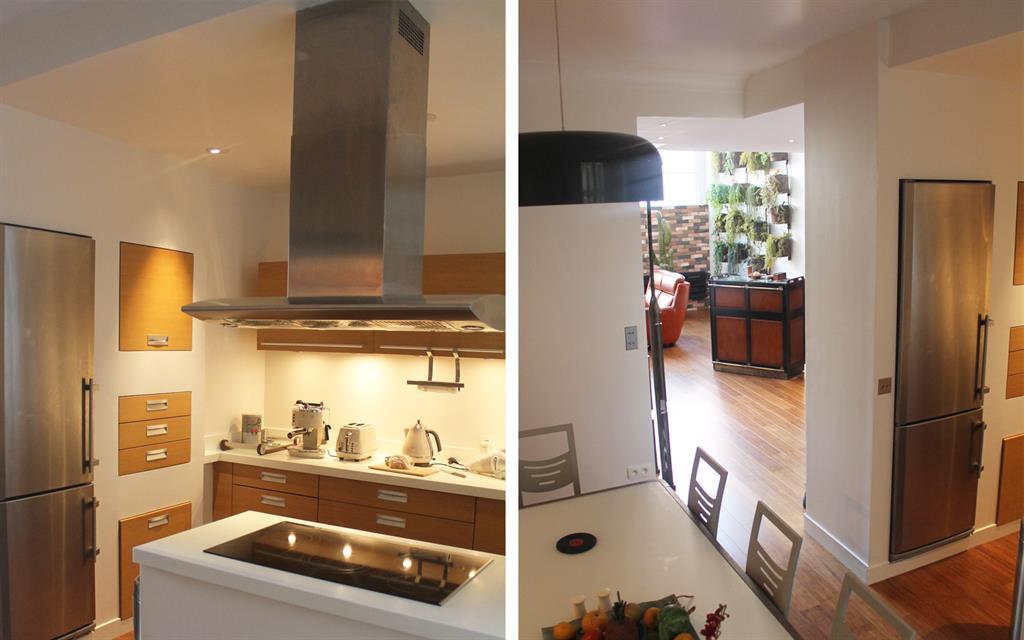 Création d\'une cuisine ouverte sur la salle à manger avec l ...