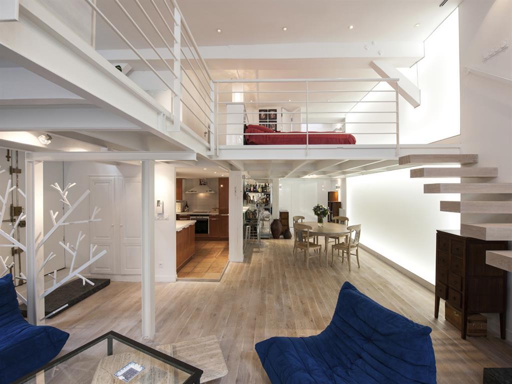 Avant apr s r novation d un loft parisien de 110m2 par agn s vermod dom - A vivre architecture ...