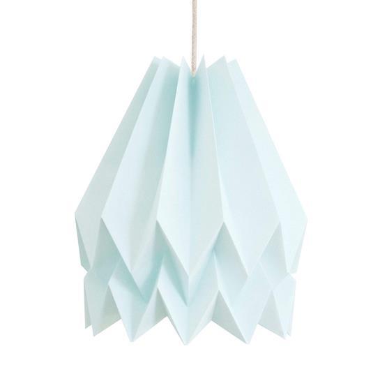 Abat-jour bleu pastel 45 cm en papier - Orikomi