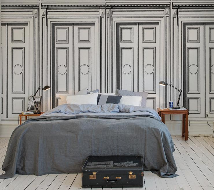 Des exemples de belles chambres invit s reproduire pour accueillir ses amis - Trompe l oeil tete de lit ...