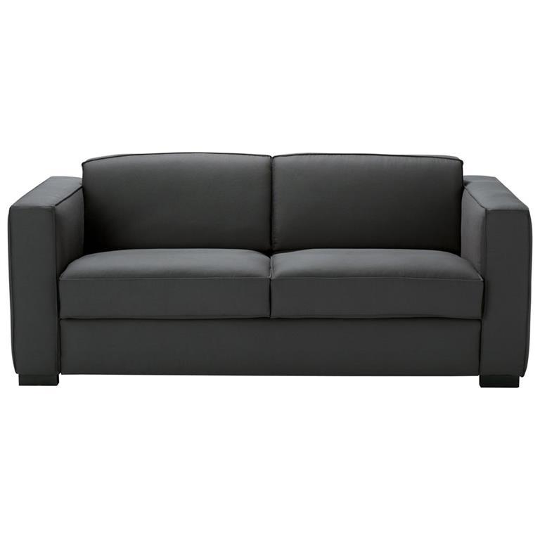 Canapé-lit 3 places en coton gris ardoise Berlin