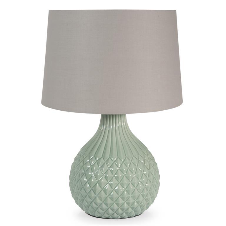 Lampe en céramique verte H 43 cm GARDENIA