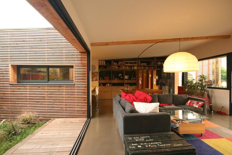 Maison pour une famille de 4 personnes for Salon ouvert sur terrasse
