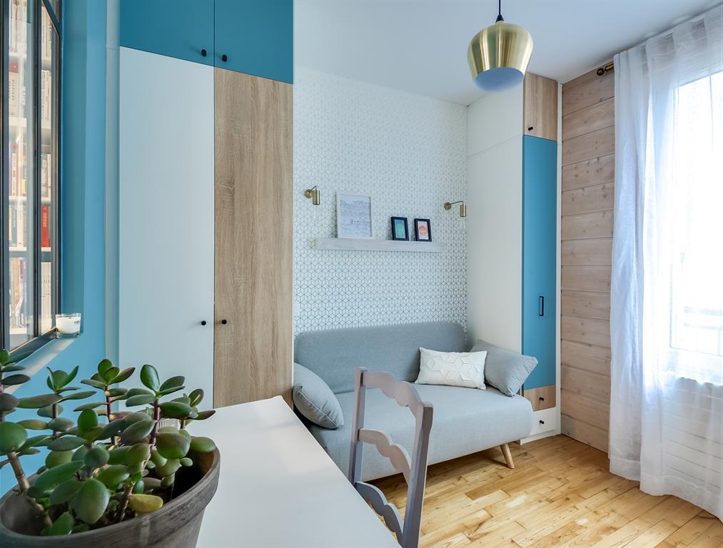 Rénovation d\'une chambre d\'amis-bureau LD&CO.paris