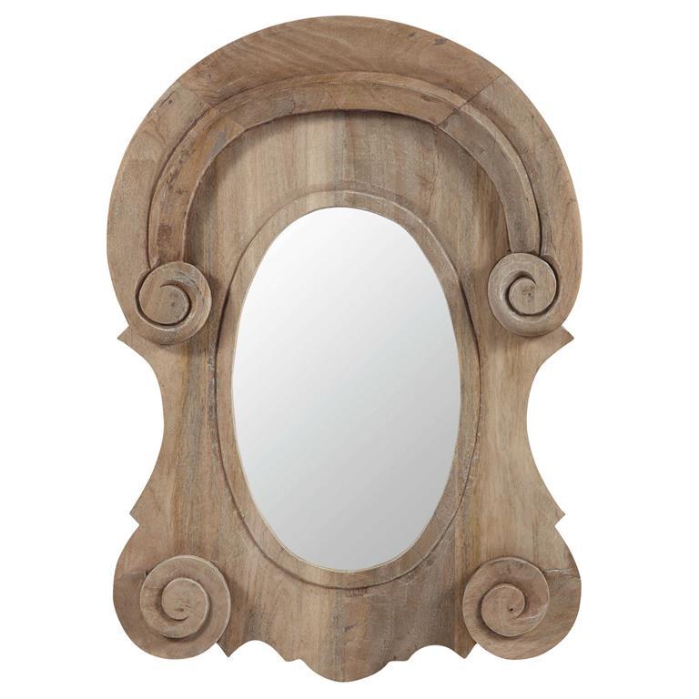 Miroir lucarne en manguier H 89 cm AMBROISE