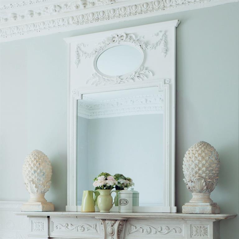 Miroir trumeau en bois blanc H 160 cm MIRANO