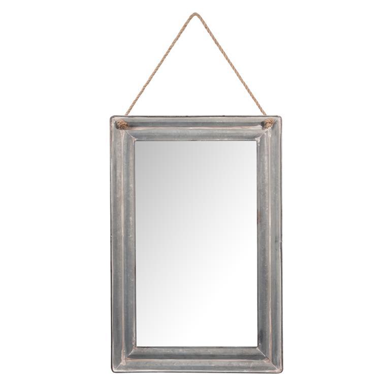 Miroir en bois H 60 cm GALVA