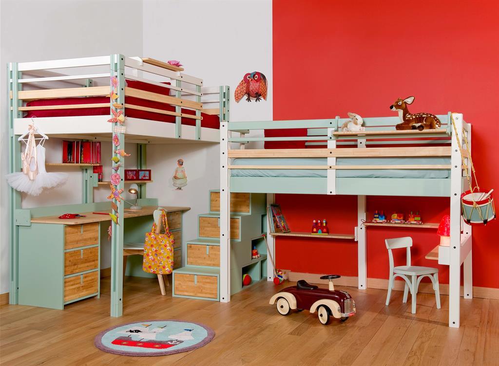 Chambre - Lits mezzanine enfants ...