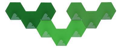 Patère Simplex lot de 3 - Tolix vert en métal