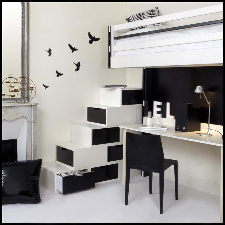 Chambre for Bureau chambre moderne