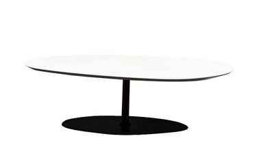 Table basse T-Phoenix petit plateau - Moroso blanc en métal