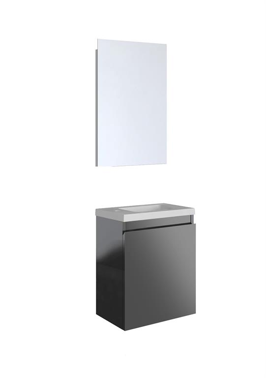 Meuble lave-mains gris foncé