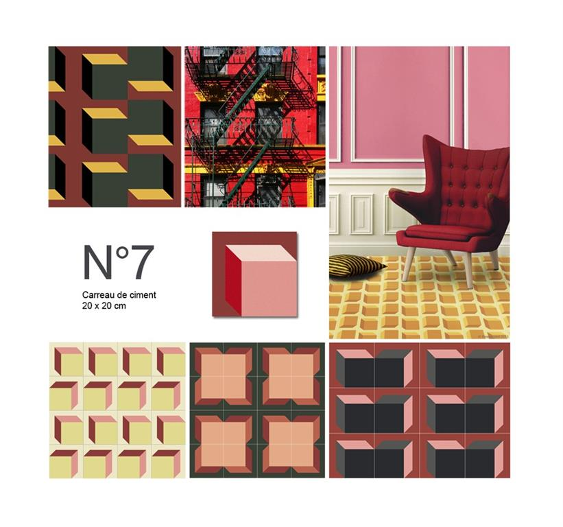 carreaux de ciment beauregard paris ref n7 domozoom. Black Bedroom Furniture Sets. Home Design Ideas