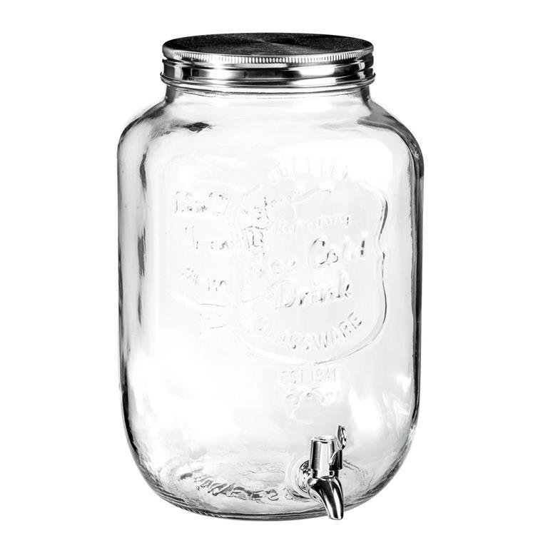 Fontaine à boisson en verre 8L ICE COLD